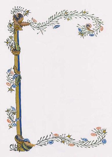 Canterbury Tales border blank by Lillian atte Valeye