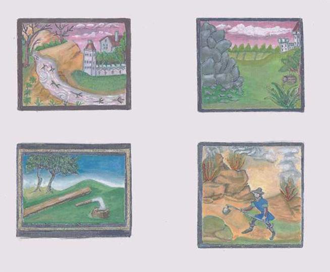 Western European miniatures by Lillian atte Valeye